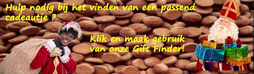 Hulp nodig bij het vinden van een passend Sinterklaas cadeautje? Klik en maak gebruik van onze Gift Finder.