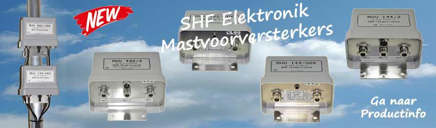 Nieuw: SHF Elektronik Mastvoorversterkers