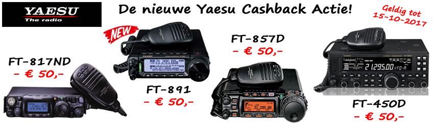 De nieuwe Yaesu Cashback Actie!