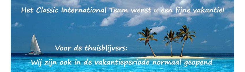 Het Classic International Team wenst u een fijne vakantie!
